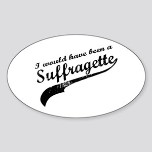 Suffragette Oval Sticker