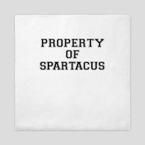 Property of SPARTACUS Queen Duvet