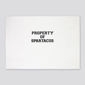 Property of SPARTACUS 5'x7'Area Rug