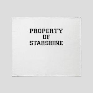 Property of STARSHINE Throw Blanket