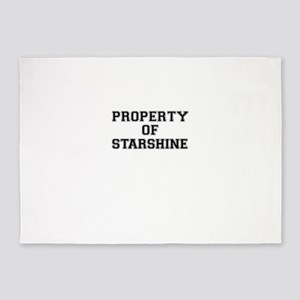 Property of STARSHINE 5'x7'Area Rug