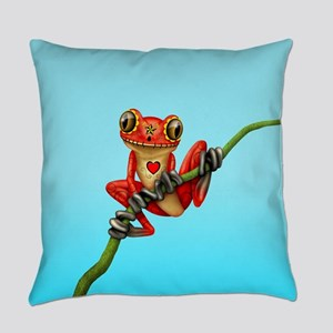 Red Day of the Dead Sugar Skull Tree Frog Everyday