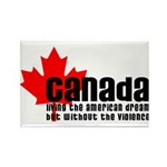 Canada & The American Dream Rectangle Magnet (10 p