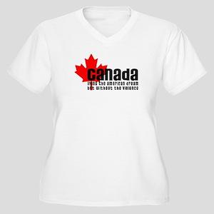 Canada & The American Dream Women's Plus Size V-Ne