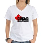 Canada & The American Dream Women's V-Neck T-Shirt