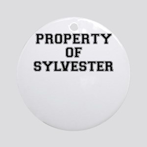 Property of SYLVESTER Round Ornament