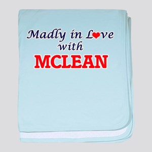 Madly in love with Mclean baby blanket