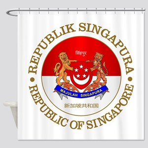 Singapore (rd) Shower Curtain