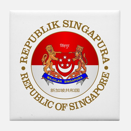 Singapore (rd) Tile Coaster