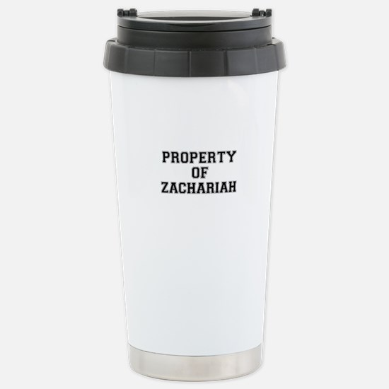 Property of ZACHARIAH Stainless Steel Travel Mug