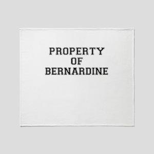 Property of BERNARDINE Throw Blanket