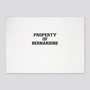 Property of BERNARDINE 5'x7'Area Rug