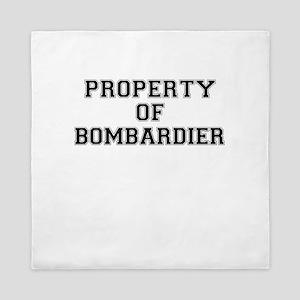 Property of BOMBARDIER Queen Duvet