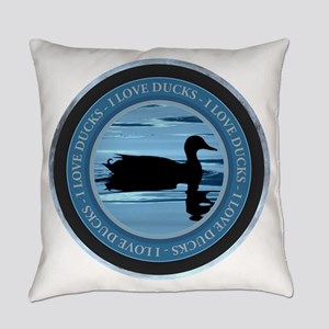 I Love Ducks Everyday Pillow