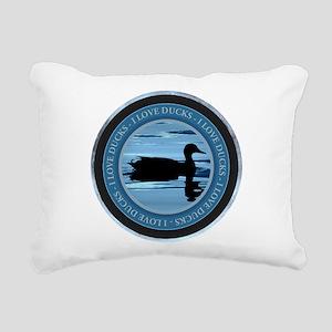 I Love Ducks Rectangular Canvas Pillow
