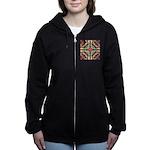 Ornate Geometric Colors Women's Zip Hoodie