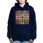 Ornate Geometric Colors Women's Hooded Sweatshirt