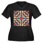 Ornate Geometric Colors Plus Size T-Shirt