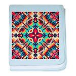 Ornate Geometric Colors baby blanket