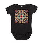 Ornate Geometric Colors Baby Bodysuit