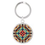 Ornate Geometric Colors Keychains