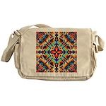 Ornate Geometric Colors Messenger Bag