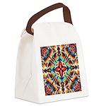 Ornate Geometric Colors Canvas Lunch Bag