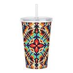 Ornate Geometric Colors Acrylic Double-wall Tumble