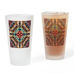 Ornate Geometric Colors Drinking Glass