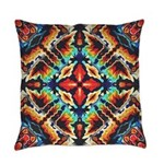 Ornate Geometric Colors Everyday Pillow