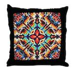 Ornate Geometric Colors Throw Pillow