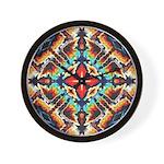 Ornate Geometric Colors Wall Clock