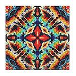 Ornate Geometric Colors Tile Coaster