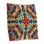 Ornate Geometric Colors Burlap Throw Pillow