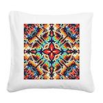 Ornate Geometric Colors Square Canvas Pillow