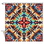 Ornate Geometric Colors Shower Curtain