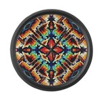 Ornate Geometric Colors Large Wall Clock