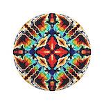 Ornate Geometric Colors Button