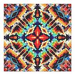 Ornate Geometric Colors Square Car Magnet 3