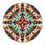 Ornate Geometric Colors Round Car Magnet