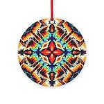 Ornate Geometric Colors Round Ornament
