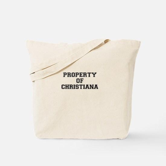 Property of CHRISTIANA Tote Bag