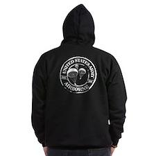 2-Sided Army Airborne Zip Hoodie (dark)
