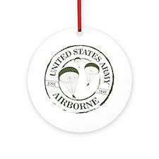 Army Airborne Round Ornament