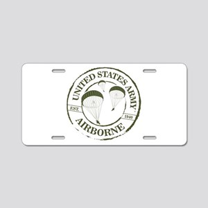 Army Airborne Aluminum License Plate