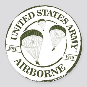 Army Airborne Round Car Magnet