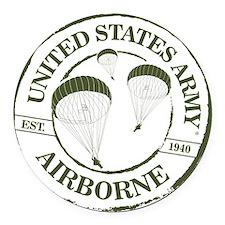 Army Airborne Round Car Magnet