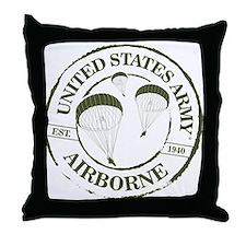 Army Airborne Throw Pillow