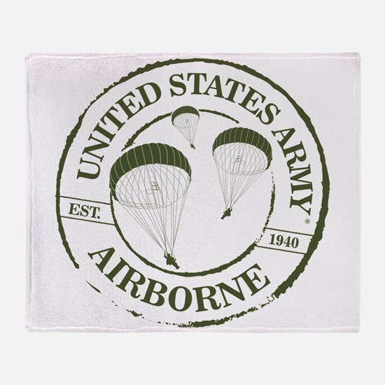 Army Airborne Throw Blanket