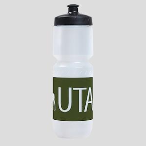 Utah: Moose (Mountain Green) Sports Bottle